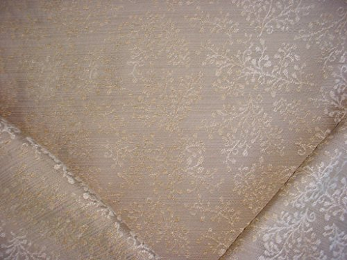153RT20 - Warm Beige / Sandstone / Taupe Willow Blossom Floral Damask Chenille To the Trade Designer Upholstery Drapery Fabric - By the (Blossom Drapery)