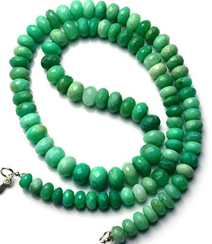 1 Strand Natural Chrysoprase 7 to 10MM Facet Rondelle Beads 21 Inch by LadoNarayani
