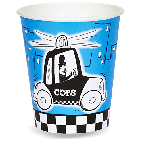 [Police Party Cops and Robbers Party 9 oz. Paper Cups (8)] (Police Officer Party Supplies)