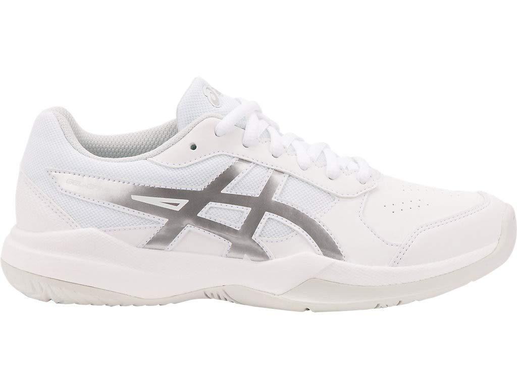 ASICS Kid's Gel-Game 7 GS Tennis Shoes, 3.5M, White/Silver