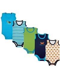 Baby Infant 5-Pack Lightweight Sleeveless Bodysuits