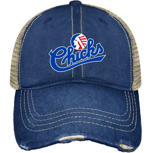 Minor League Baseball Memphis Chicks Hat, One Size, Navy (1 Chick)