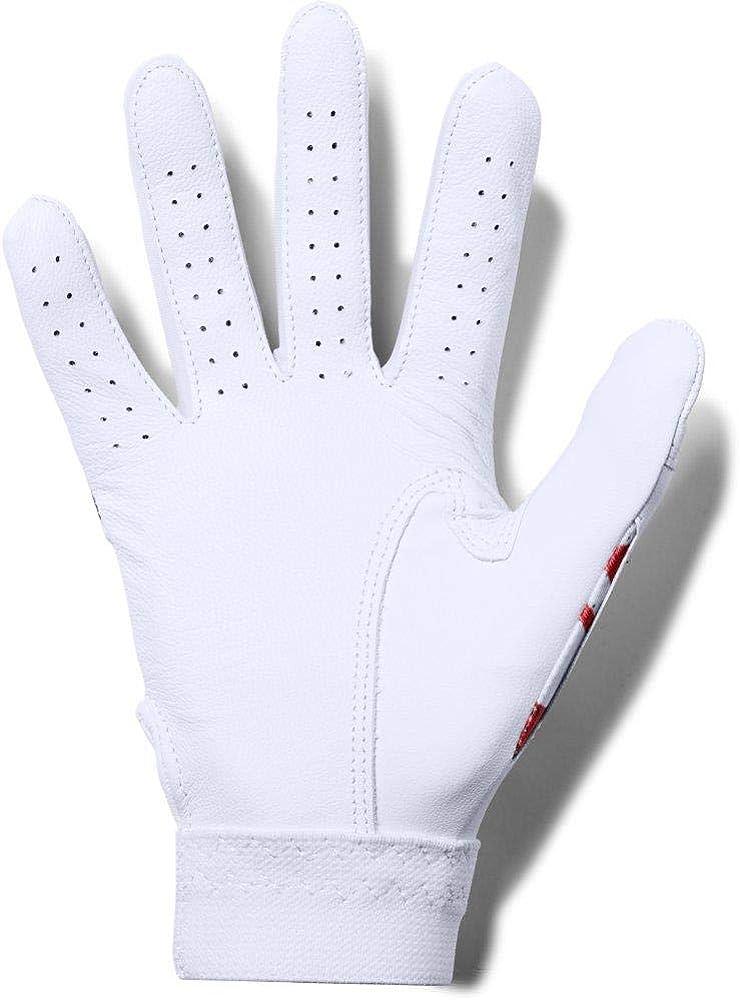 Under Armour Boys UA Clean Up  Youth Batting Gloves YSM Black//White