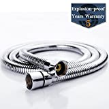 SR SUN RISE Flexible 304 Stainless Steel Replacement Shower Hose with Brass Fittings, RV Shower Hose, Explosion-proof, 59 Inch(4.9 Ft.)1.5 Meter, Chrome Finish