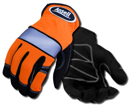 ANSELL ProjeX 97-511 Spandex Glove, Knuckle Protection, L...