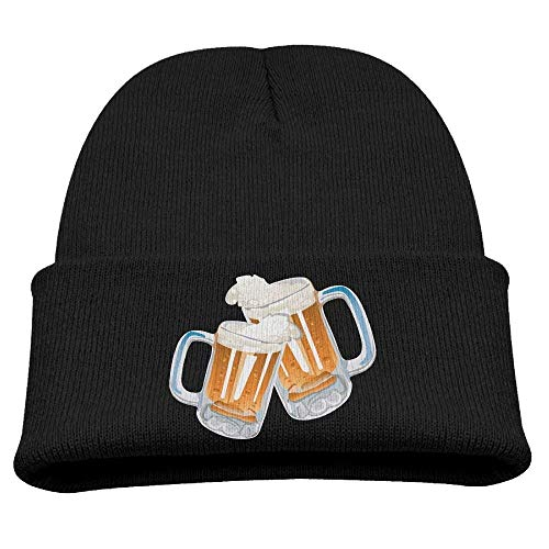 Go Ahead! boy Beer Cheers Kid's Hats Winter Funny Soft Knit Beanie Cap, Unisex
