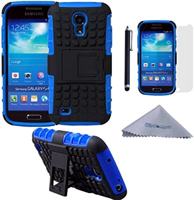 the best attitude 42cee 974e8 S4 Mini Case, Wisdompro [2 Piece in 1] Dual Layers [Heavy Duty] Hard Soft  Hybrid Rugged Protective Case with [Foldable Kickstand] for Samsung Galaxy  ...