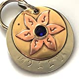 Personalize Pet ID Tag - Molly - Lily Flower Embellished with a Swarovski Crystal