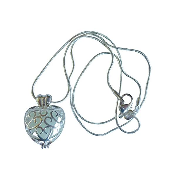 UMBRELLALABORATORY Wishing Heart Fairy Magical Fairy Glow in The Dark Necklace-Blue-SIL 4