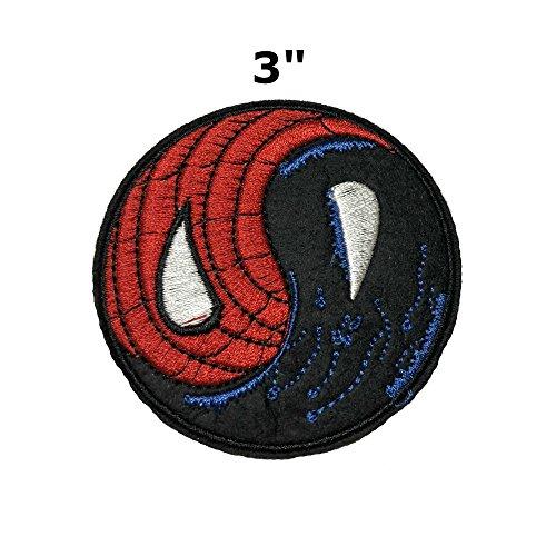 Moon Venom - Application Classic Marvel Comics Spiderman Villain Symbiote Venom Logo Cosplay Badge Embroidered Iron or Sewn-On Applique Patch