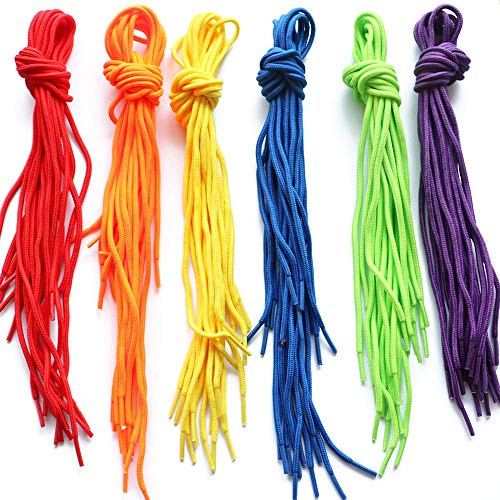 YEJI 60 Pieces Threading Laces Colored Creative Beading Laces for Threading Projects Threading Button and Beads