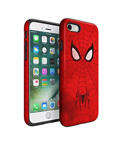 The Amazing Spiderman Grunge 2 Piece Hard Plastic + Shock Absorbing TPU Bumper Tough Case Cover Shell For iPhone 7