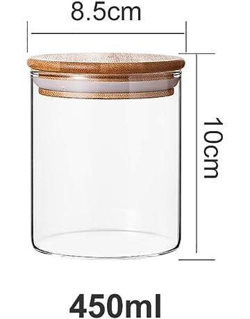 Frasco sellado Cristal transparente A prueba de humedad Hogar Botella de vidrio Tarro de almacenamiento Tanque