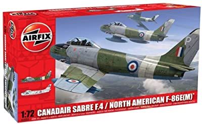 Airfix A03083 North American Canadair Mk4 Sabre 1:72 Scale Military Aircraft Series 3 Model Kit