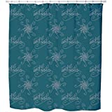 Uneekee Holy Days Petrol Shower Curtain: Large Waterproof Luxurious Bathroom Design Woven Fabric