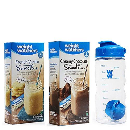 Weight Watchers Smoothie Starter Pack   Chocolate  Vanilla  Shaker Bottle