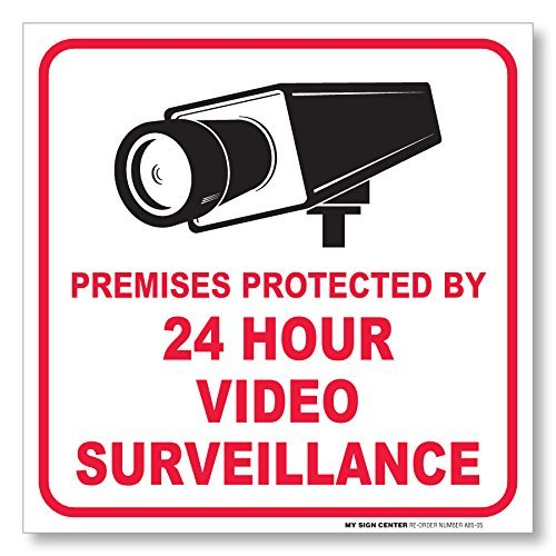 Premises Protected Video Surveillance Sticker