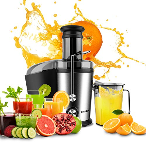 SOWTECH 800W Juice Extractor with Multiple Setting Fruit and Vegetable Centrifugal Juicer Dual Speed Stainless Steel Blender
