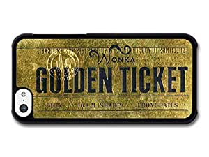 AMAF ? Accessories Willy Wonka Golden Ticket Charlie and the Chocolate Factory Movie case for iPhone 5C