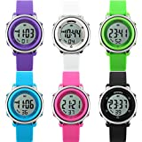 Gets Children's Watches Sport Watch with Stop Watch and 7 LED Back Light Function Time Teacher Silicone Strap Boys Girls