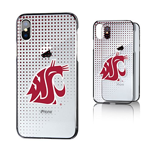 Keyscaper KCLRIX-0WST-DOTS01 Washington State Cougars iPhone X/XS Clear Case WSU Dots ()