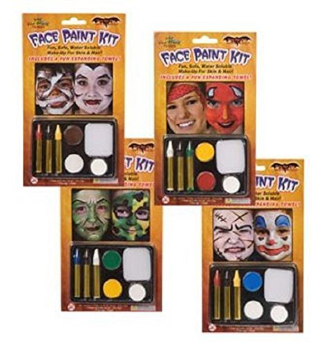 Halloween Costume Face Painting Kits, 4-pk