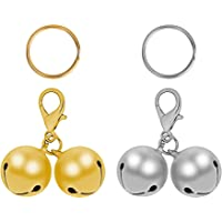 2PCS Pet Bells, Gold and Silver Stainless Steel Bells, for Pet Collar Pendant Pendant, Pet decorations