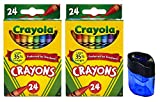 Best Crayon Sharpeners - Crayola Crayons, 24 Count, 2 Pack and Crayon Review