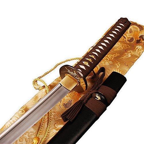 - Handmade Folded Steel Blade Full Tang Samurai KATANA Sword 2048 Layers Sharpened