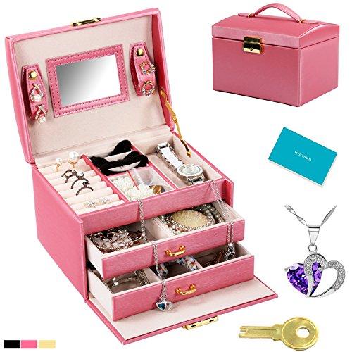 ICOCOPRO Leather Jewelry Storage Cosmetic