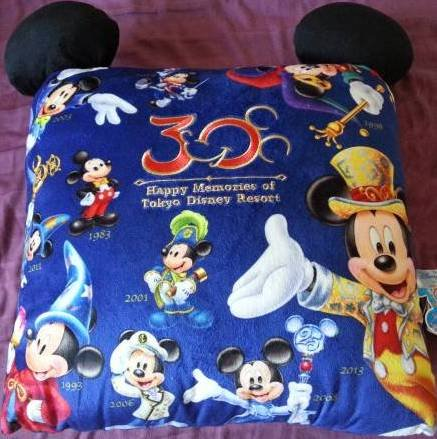 東京ディズニーランド 30周年記念限定 クッション ミッキー ヒストリー 耳付きの商品画像