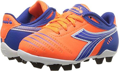 Diadora Kids Unisex Cattura MD Jr Soccer (Toddler/Little Kid/Big Kid) Orange/Blue 9.5 Toddler - Orange Blue