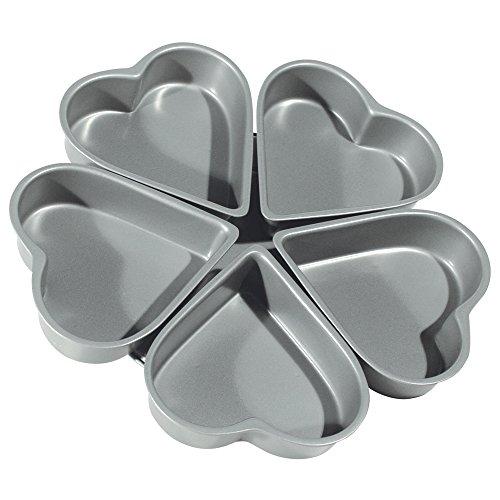 - Fox Run 4460 Linked Heart Cake Pan, 4-Inch, Preferred Non-Stick