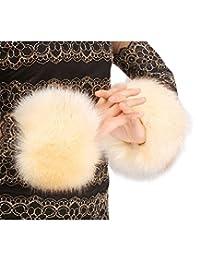 Women's Winter Faux Fur Wrist Warmers Cuffs Warm Wrist Band