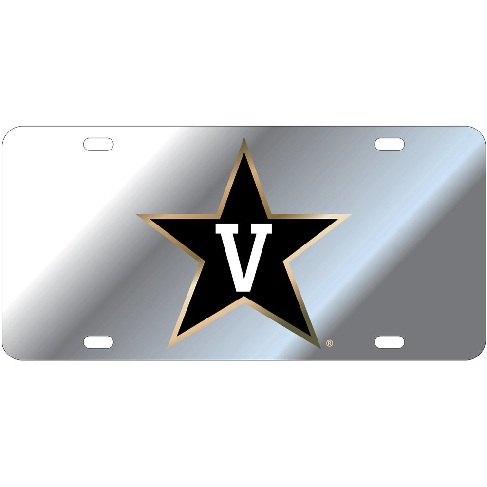 Vanderbilt Commodores Mirror Laser Cut License Plate Star Logo