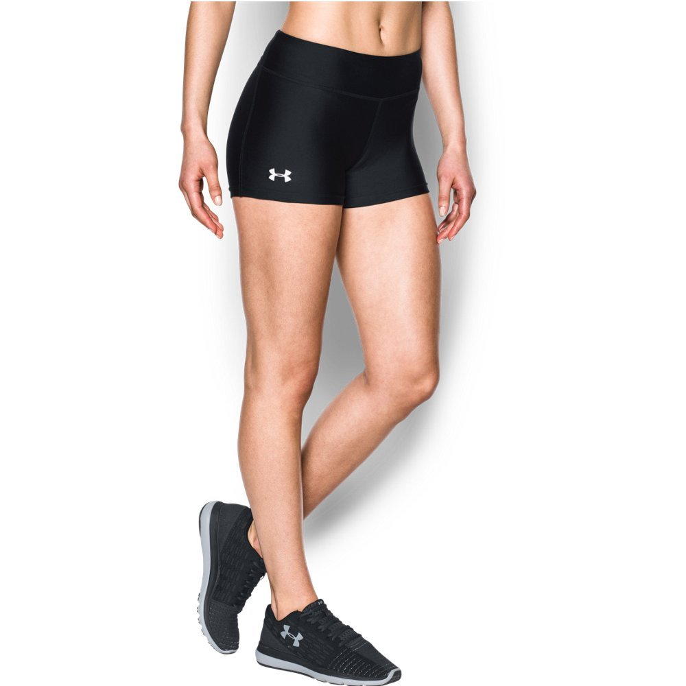 Under Armour Women's On The Court 3'' Shorts,Black /White, X-Small