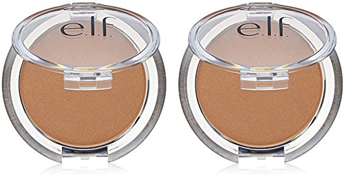 e.l.f. Cosmetics Sunkissed Glow Bronzer Professional Highlighter and Contouring Makeup, .18 Ounce Compact (2 Pack