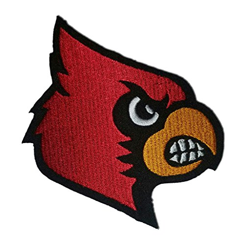 Cardinal Patch - Louisville Cardinals Logo Sew Ironed On Badge Embroidery Applique Patch