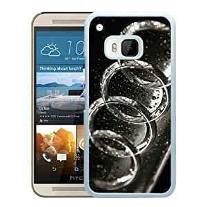 Niche market Phone Case Audi logo 3 White Special Custom Made HTC ONE M9 Cover Case