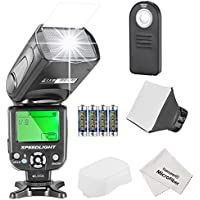Neewer NW561 Speedlite Flash Kit for Canon Nikon Olympus Fujifilm DSLR Cameras, Include:NW-561 Flash +Flash Diffuser +5-in-1 Multi Function Remote Control +4Batteries +Micro Cleaning Cloth
