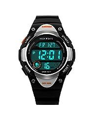 TOOPOOT® SKMEI Digital Boy Girl LED Alarm Stopwatch Sports Watches (Black)