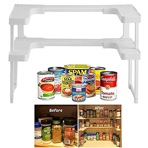 Salire Spice Shelf Rack and Cupboard Organizer (Spice Cabinet Organizer)