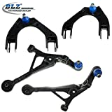 DLZ 4 Pcs Front Suspension Kit-2 Lower 2 Upper Control Arm Assembly for 1995-2000 Chrysler Cirrus, 1996-2006 Chrysler Sebring, 1995-2006 Dodge Stratus, 1996-2000 Plymouth Breeze