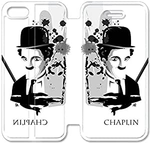 Personality Design Chaplin-8 iPhone 4 4S Leather Flip Case