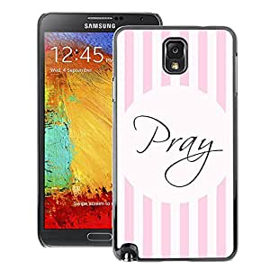 A-type Arte & diseño plástico duro Fundas Cover Cubre Hard Case Cover para Samsung Note 3 N9000 (God Pink Lines Christian Religious)