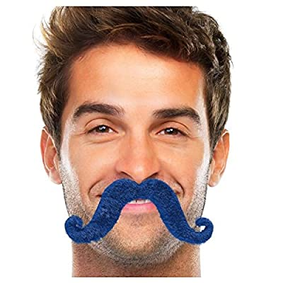 Amscan Moustache, Party Accessory, Blue: Kitchen & Dining