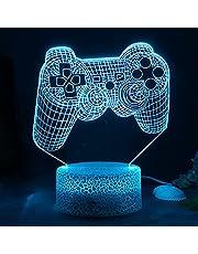 ZWOOS Gaming Light - 3D Illusie Nachtlampje - PS Icons Lamp met Afstandsbediening - 16 Kleuren - 4 Verlichtingsmodi - Gamergeschenken
