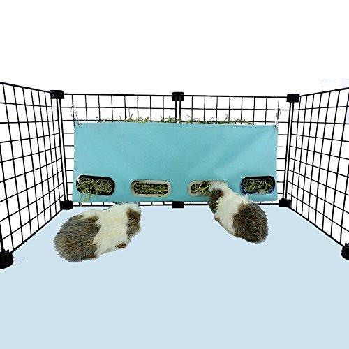 Guinea Pig Hay Bag Feeder (Large, Aqua) by Piggy BedSpreads
