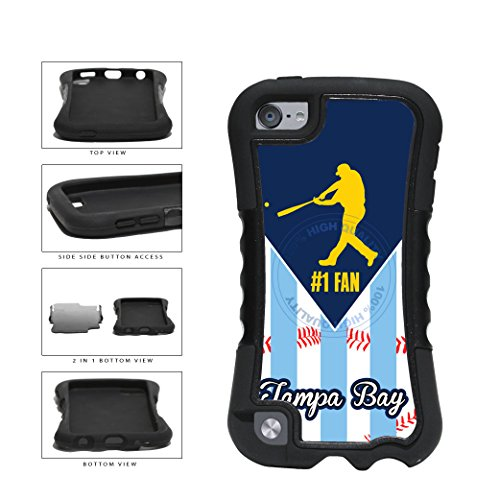 Tampa Bay Baseball Number One Fan 2-Piece Dual Layer Phone Case Back Cover For Apple iPod Touch 5th Generation comes with Security Tag and MyPhone Designs(TM) Cleaning Cloth