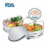 Insert Pan for Instant Pot Accessories, Cenow Instant Pot in Pot Accessories Steamer Basket Set with Egg Steamer Rack Stand, Steamer Insert Fits Instant Pot 6 Qt, 8 Quart Pressure Cooker Accessories